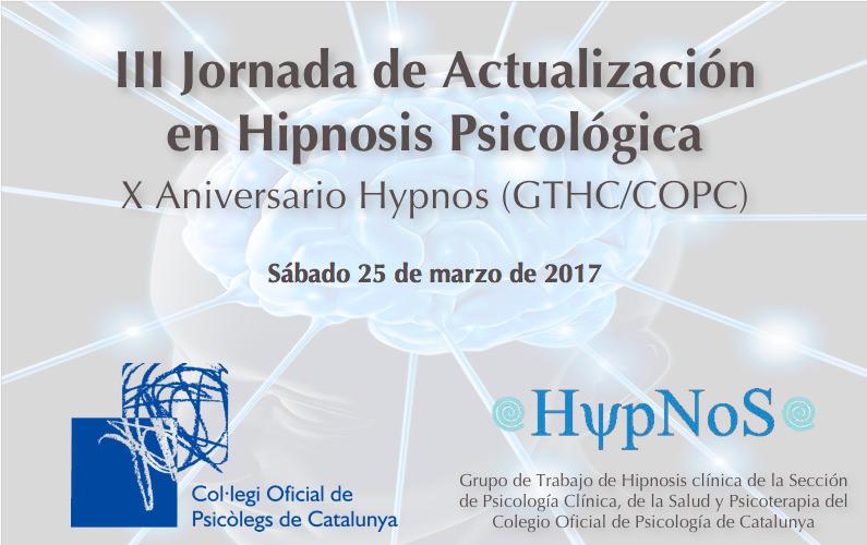 III Jornada de Actualización en Hipnosis Psicológica GTHC/COPC