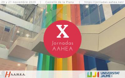 X Jornadas AAHEA Avance del programa